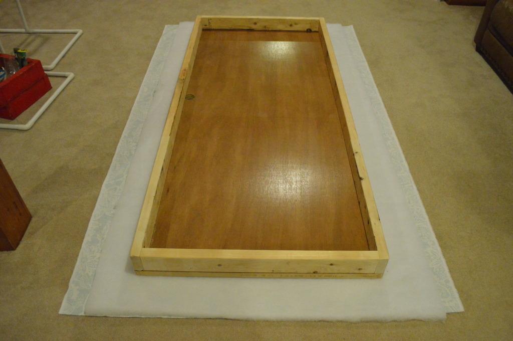 DIY Upholstered Headboard Prep