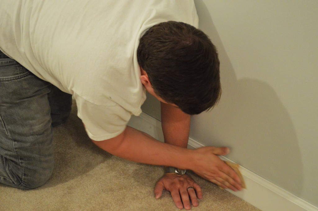 Guest Room Baseboard Trim Sanding