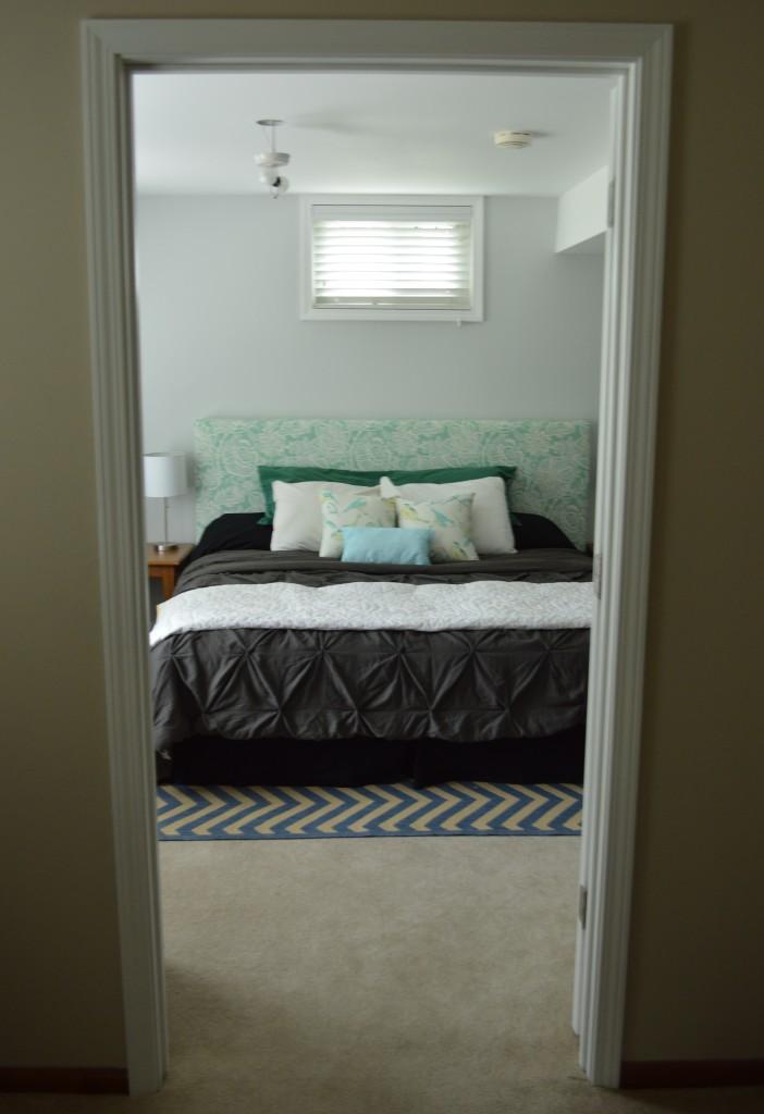 Guest Room Bed Through Door