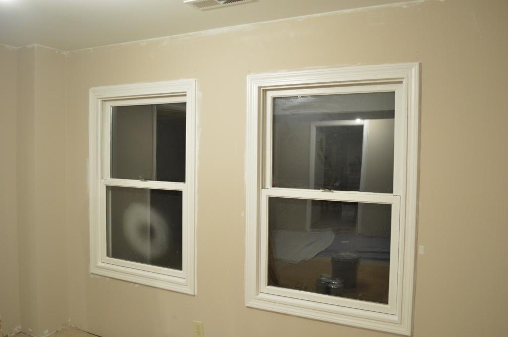Guestroom Windows Painted