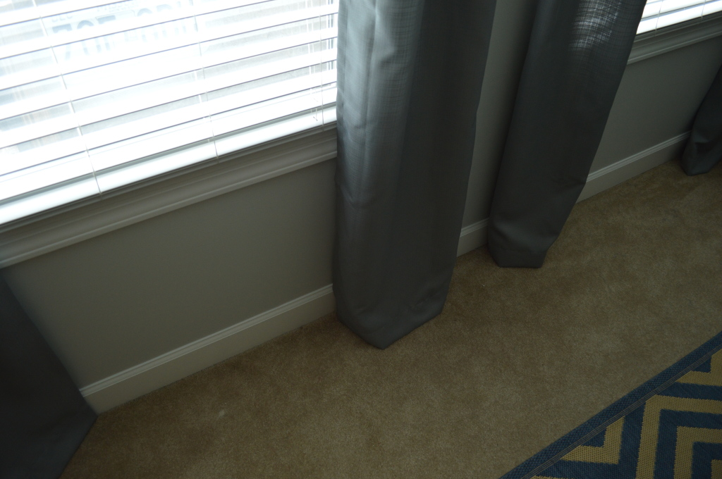Guestroom curtains length