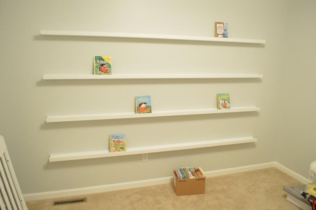 Nursery Book Ledges Finished 2