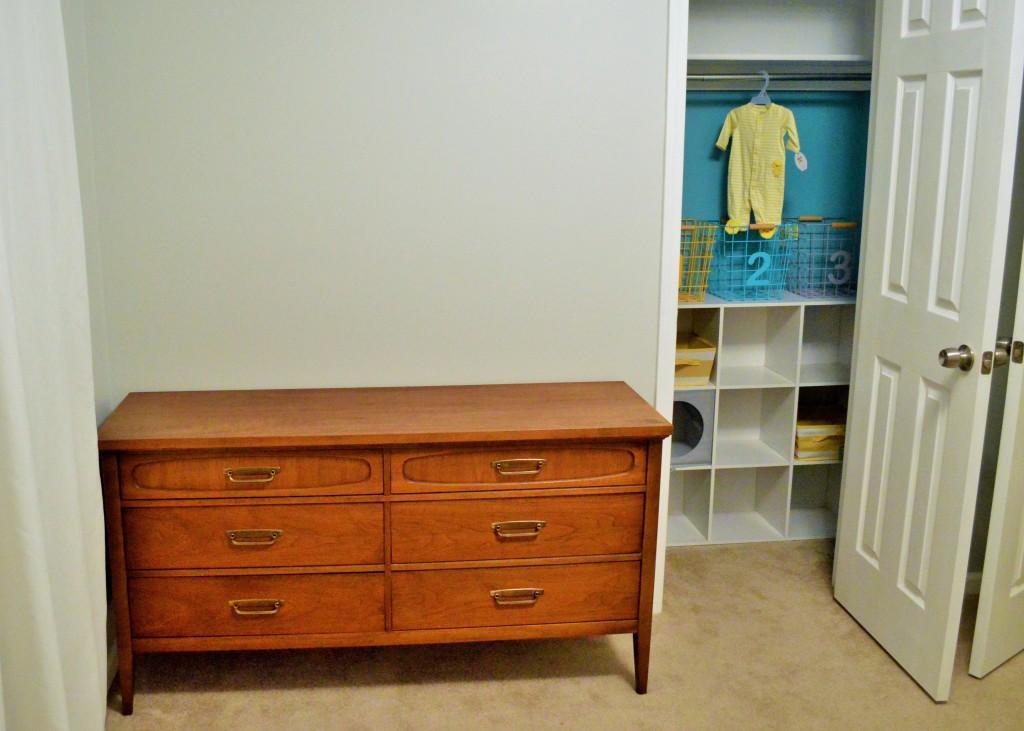 Nursery Closet Painted with Dresser 2