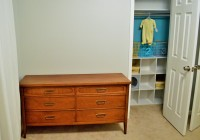 Nursery Closet Painted with Dresser 2
