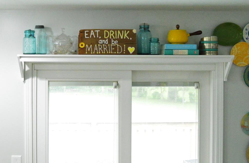 Shelf Above Door in Kitchen