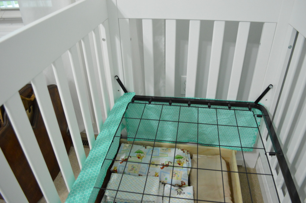 Crib Skirt Attaching to Rails