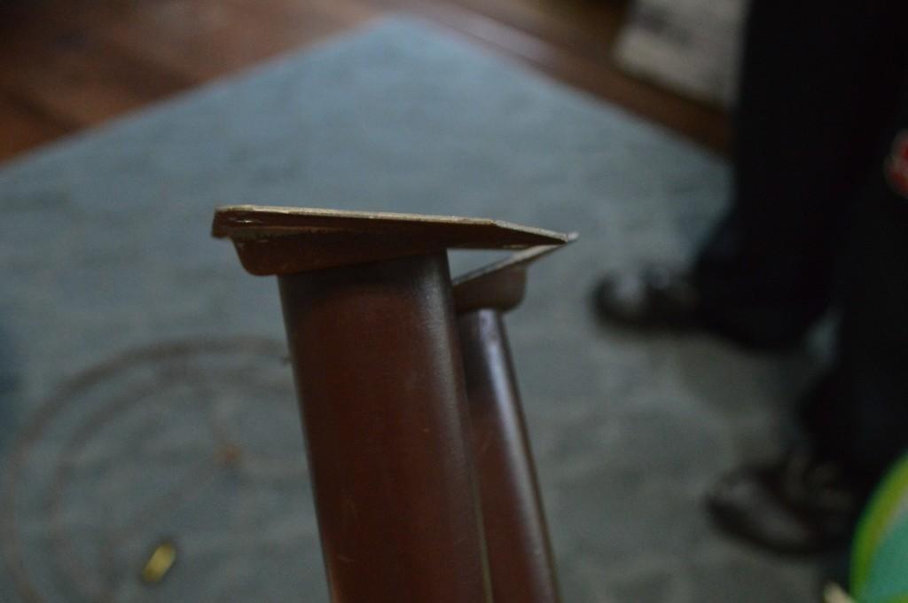 DIY Mid Century Side Table Legs Before
