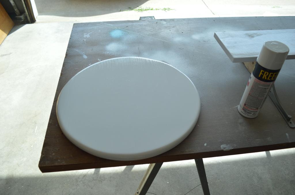 DIY Mid Century Side Table Top