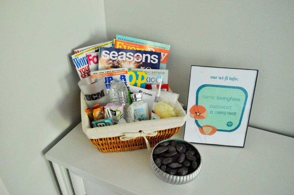 Guest Room Dresser Welcome Kit Wifi Print