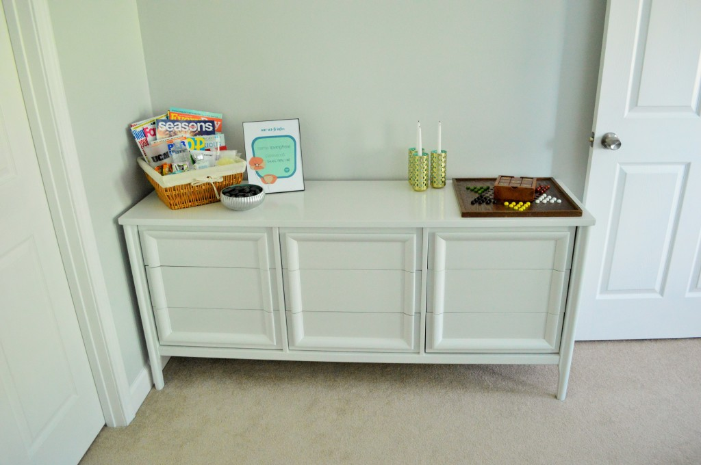 Guest Room Dresser Welcome Kit and Games 2