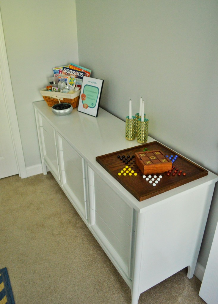 Guest Room Dresser Welcome Kit and Games