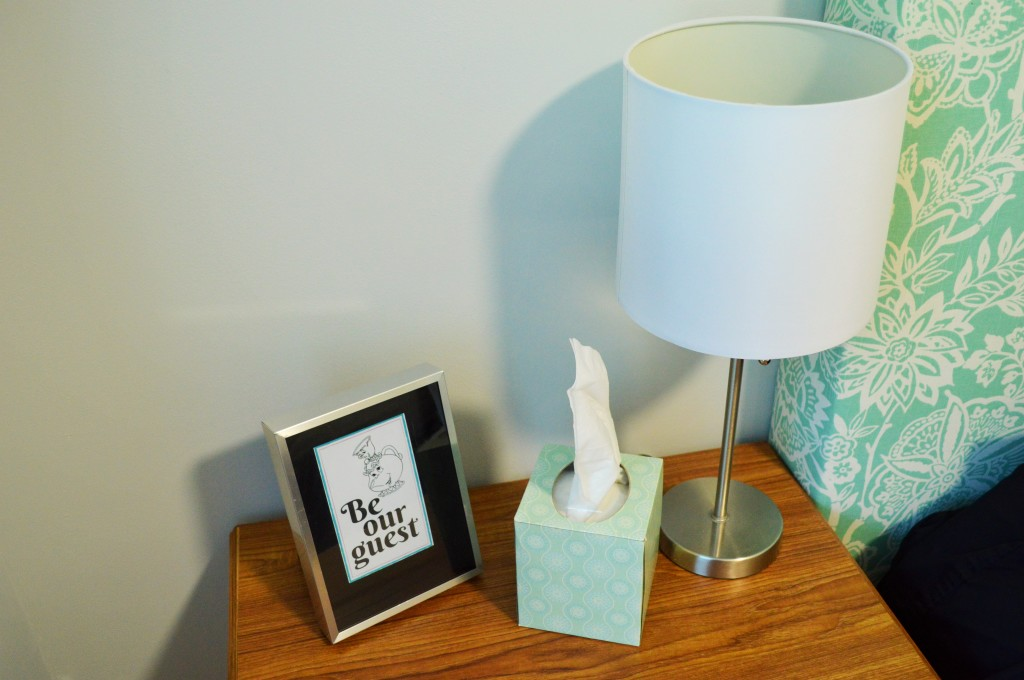 Guest Room Nightstand Be Our Guest Print 2