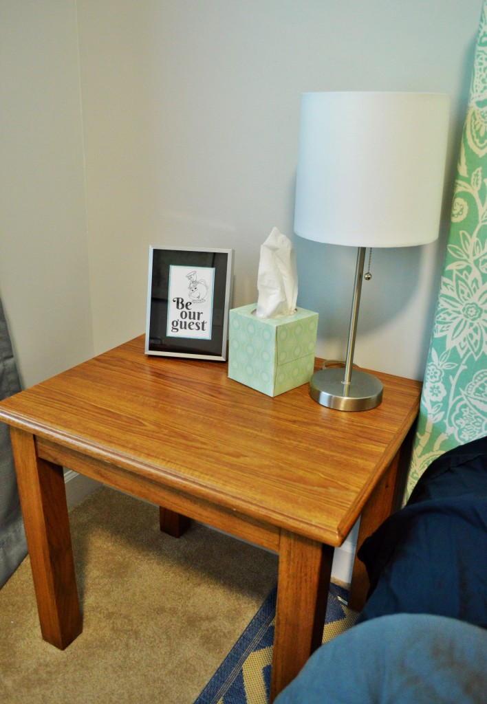 Guest Room Nightstand Be Our Guest Print
