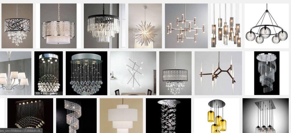 Modern chandelier snip