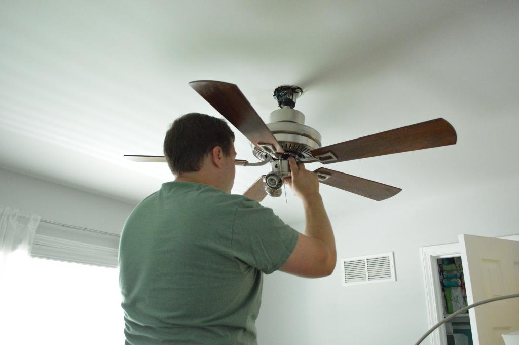 Nursery Ceiling Fan Installation