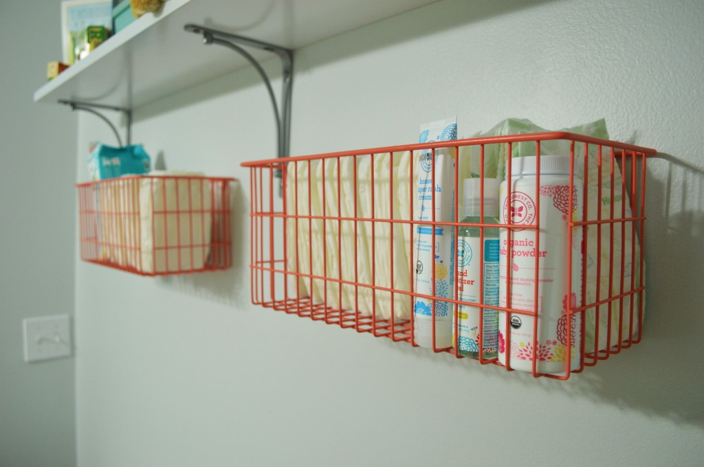 Nursery Changing Area Baskets