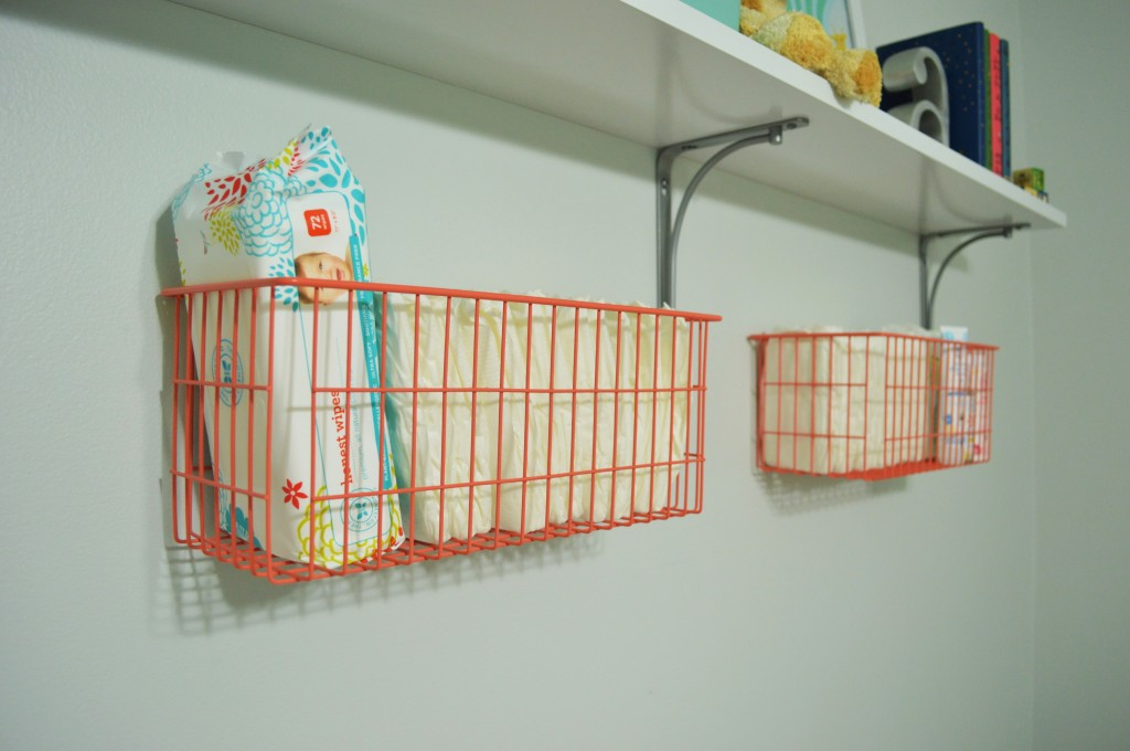 Nursery Changing Area Baskets 2
