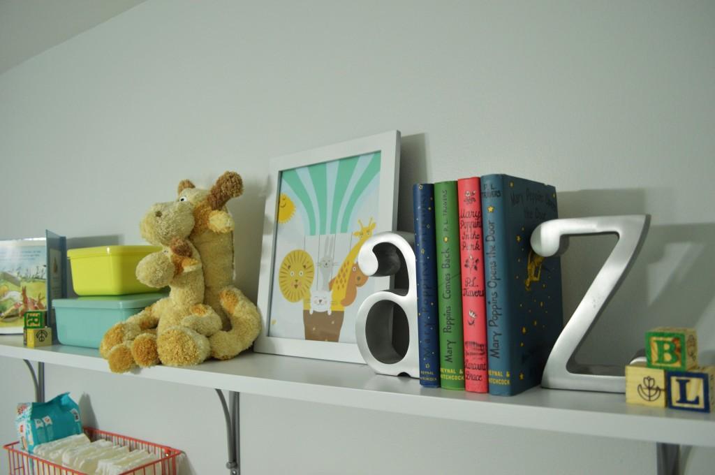 Nursery Changing Area Shelf
