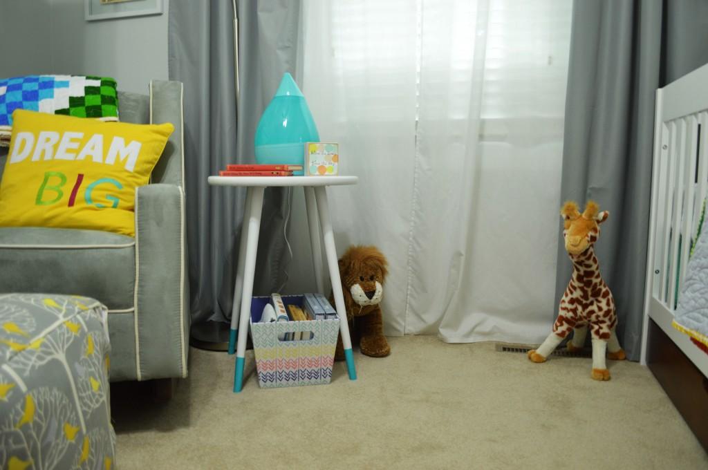 Nursery DIY Mid Century Side Table 2