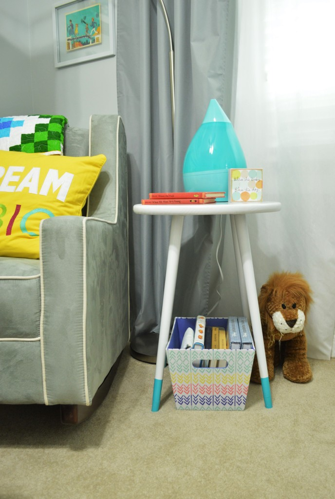 Nursery DIY Mid Century Side Table 3