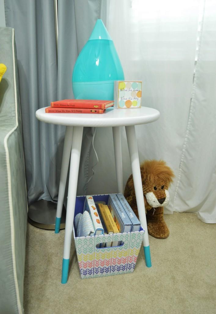 Nursery DIY Mid Century Side Table