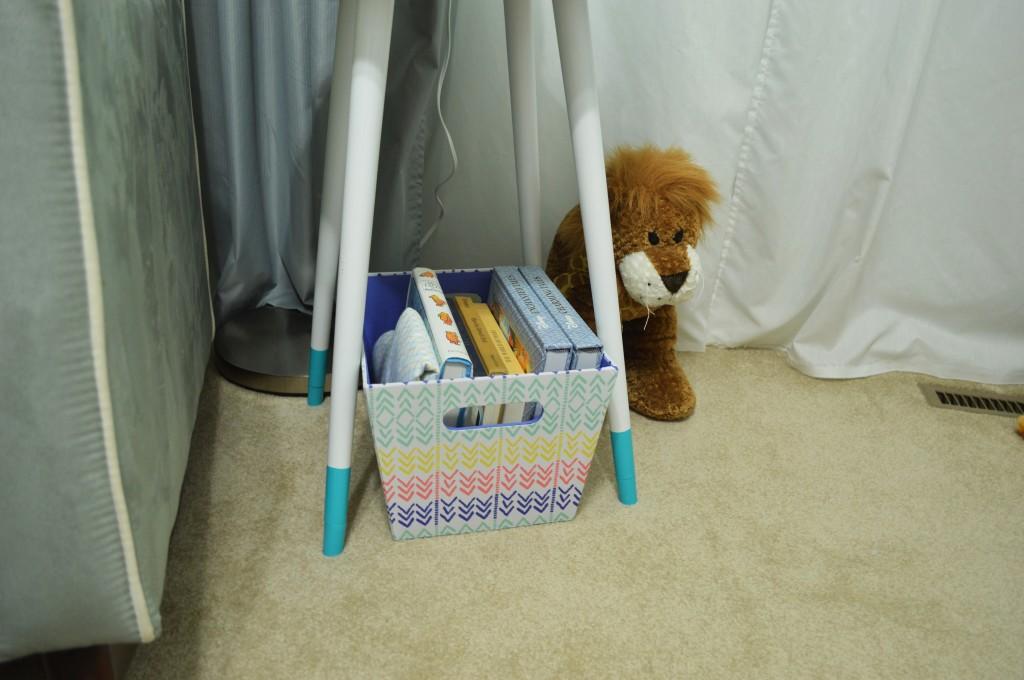 Nursery DIY Mid Century Side Table Dipped Legs