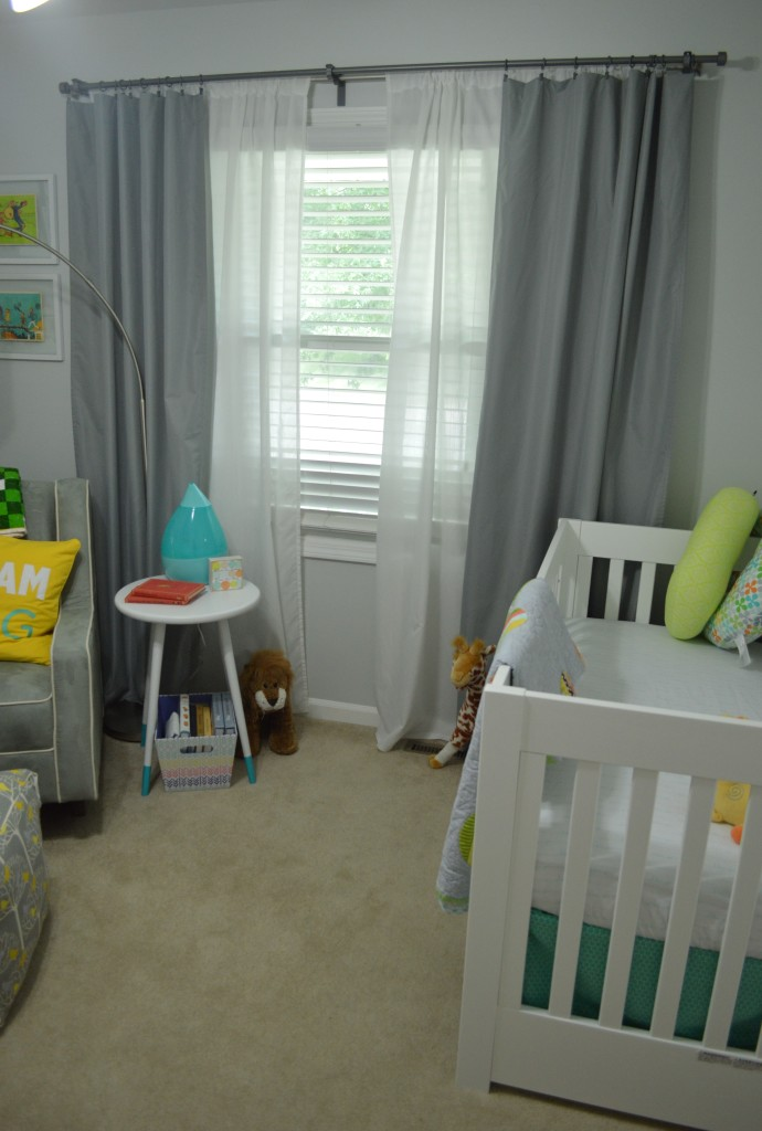 Nursery Double Curtain Rods Open
