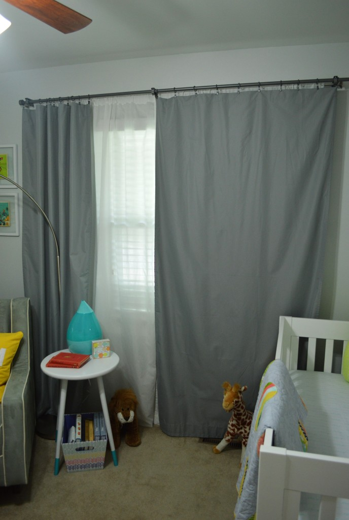 Nursery Double Curtain Rods light blocking
