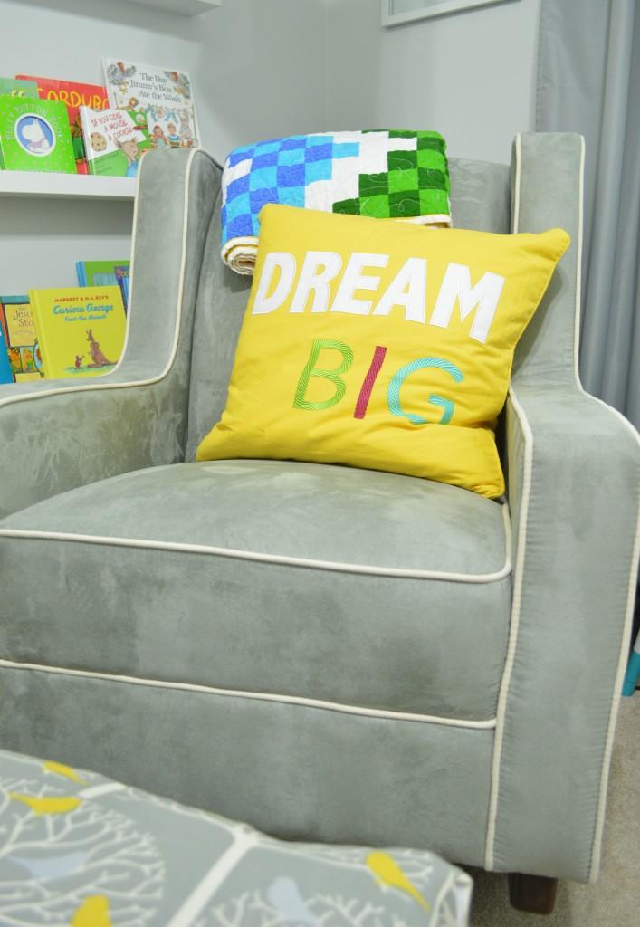 Nursery Dream Big Pillow