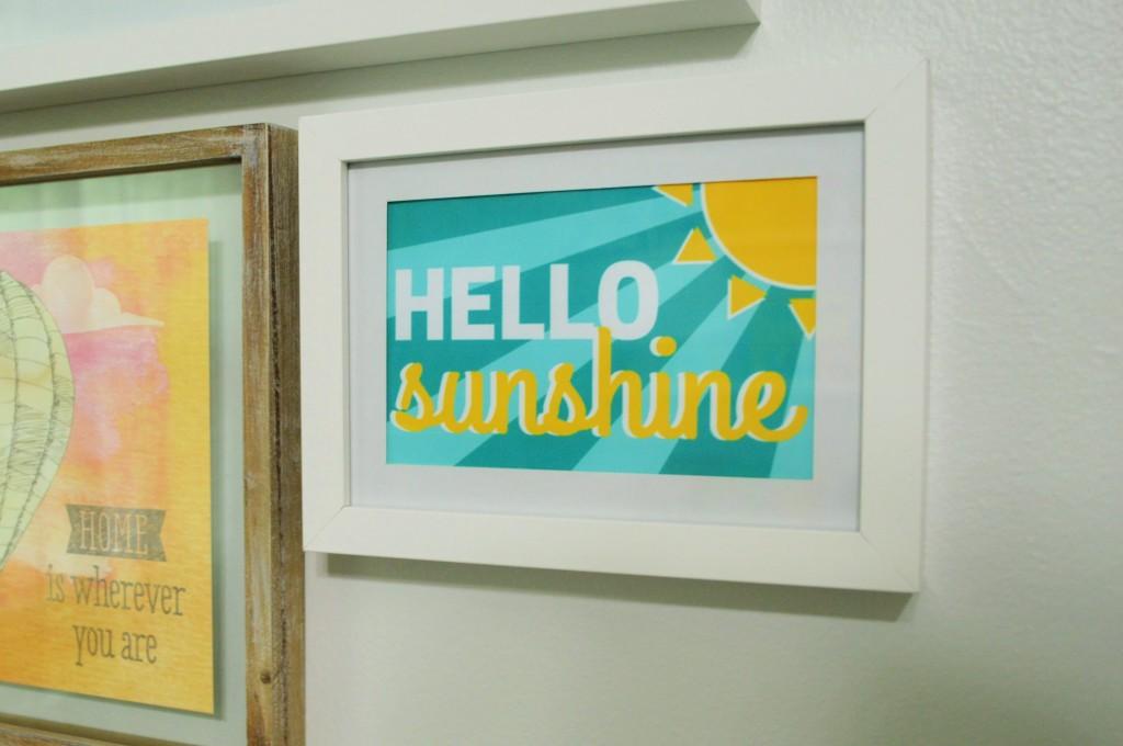 Nursery Gallery Wall Hello Sunshine Free Printable