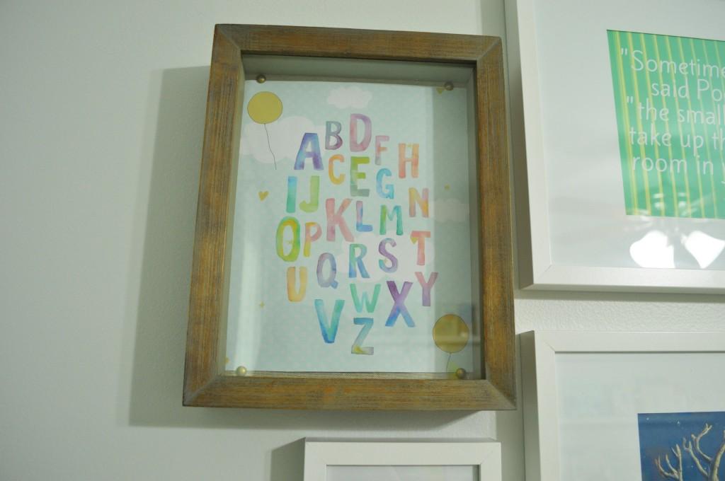 Nursery Gallery Wall Shadow Box
