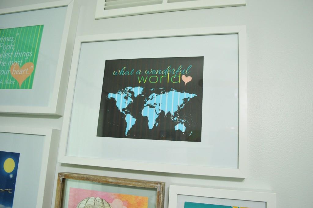 Nursery Gallery Wall Wonderful World Free Printable