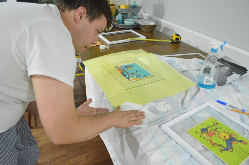 Nursery Vintage Mary Poppins prints framing 2
