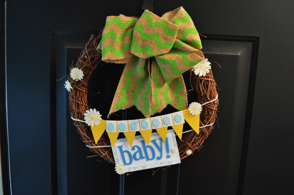 Welcome Baby Wreath