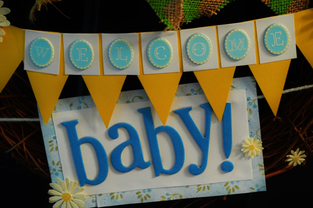 Welcome Baby Wreath 3