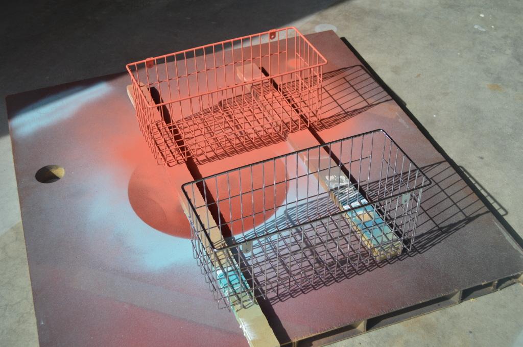 spray painting baskets
