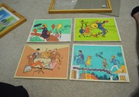 vintage mary poppins lithograph set