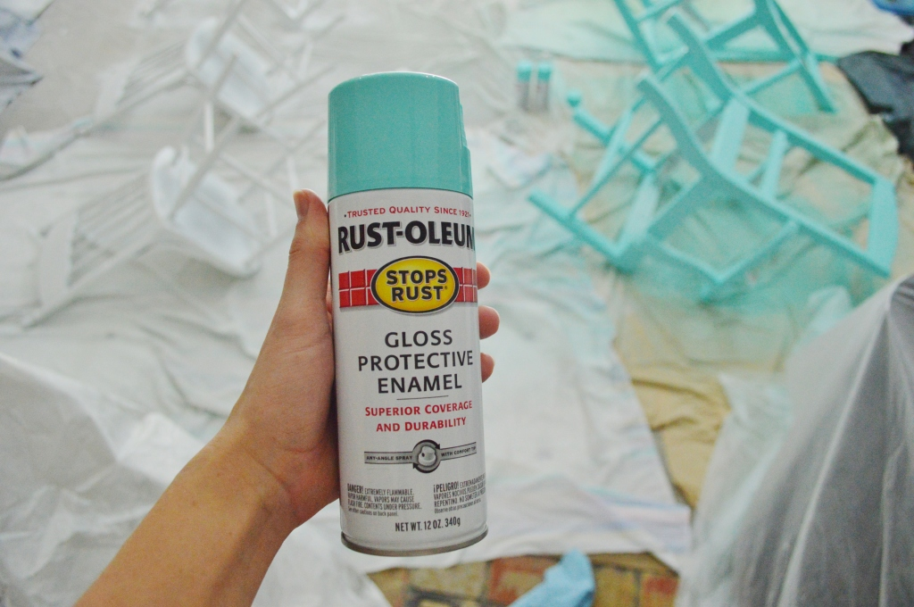 Dining Room Chairs Rustoleum Turquoise