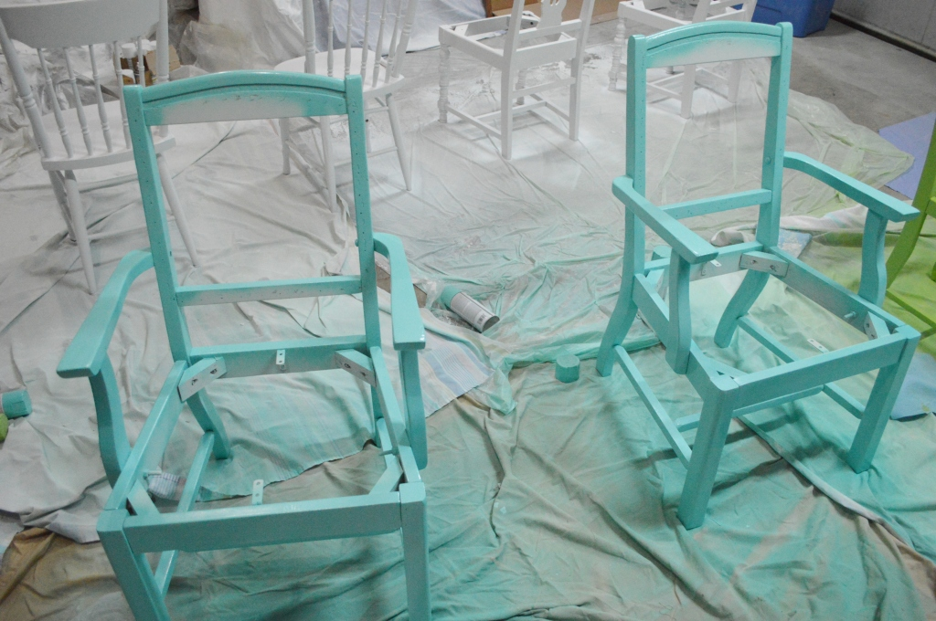 Painting Dining Room Chairs Blue