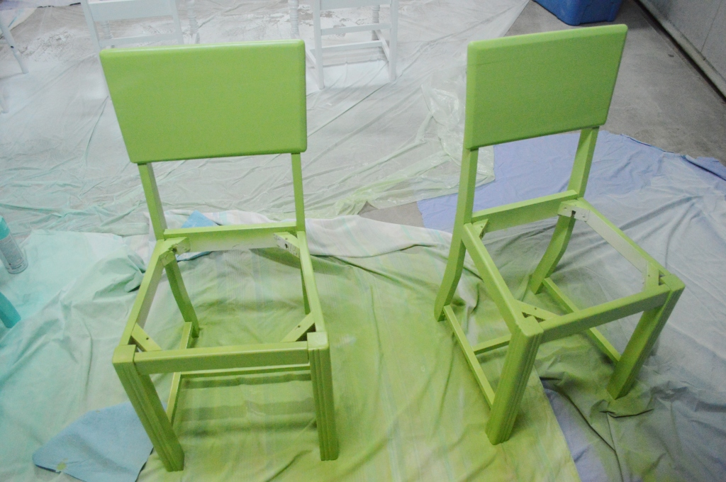 Painting Dining Room Chairs Green