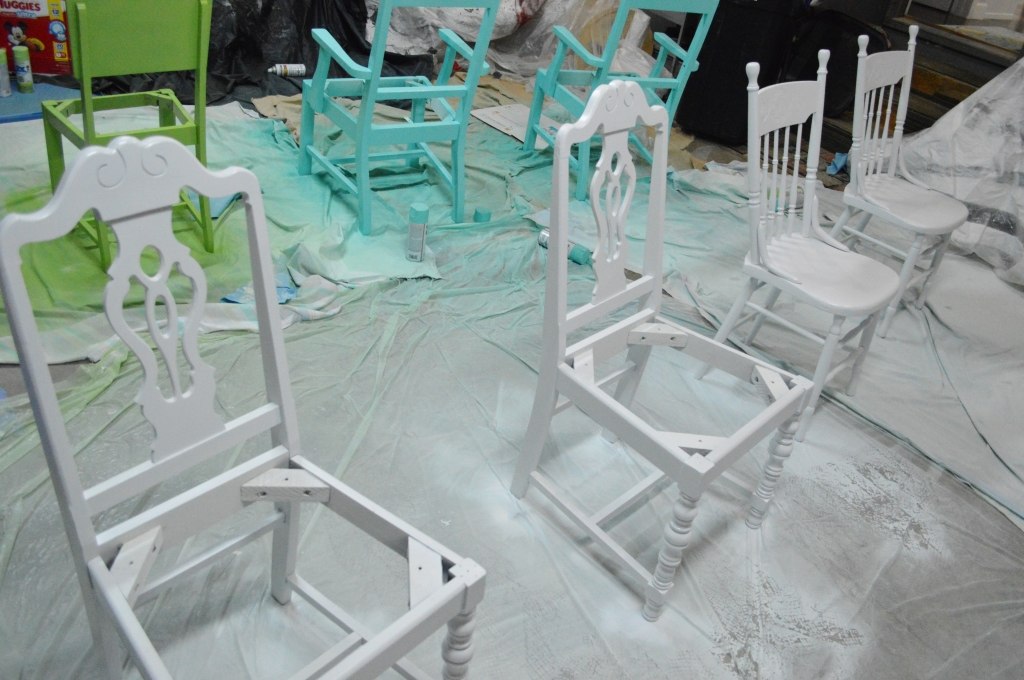Painting Dining Room Chairs White