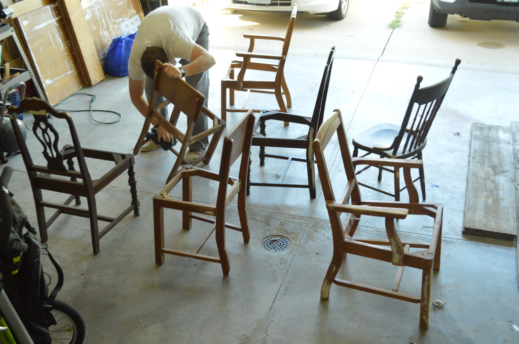 Prepping Chairs to Paint