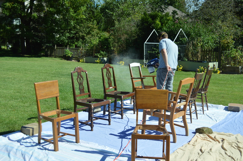 Priming Dining Room Chairs