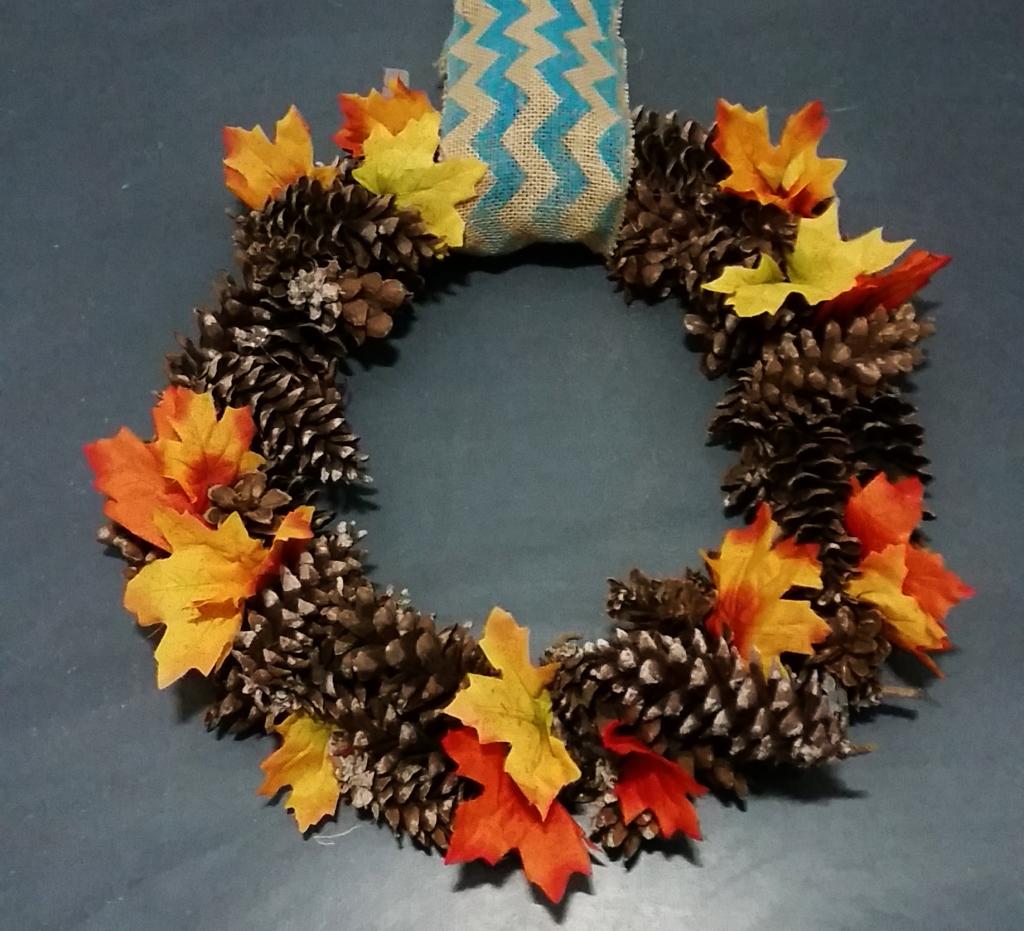 Fall Living Room Wreath