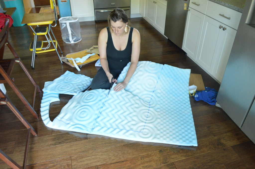 Reupholstering chair cushions 10