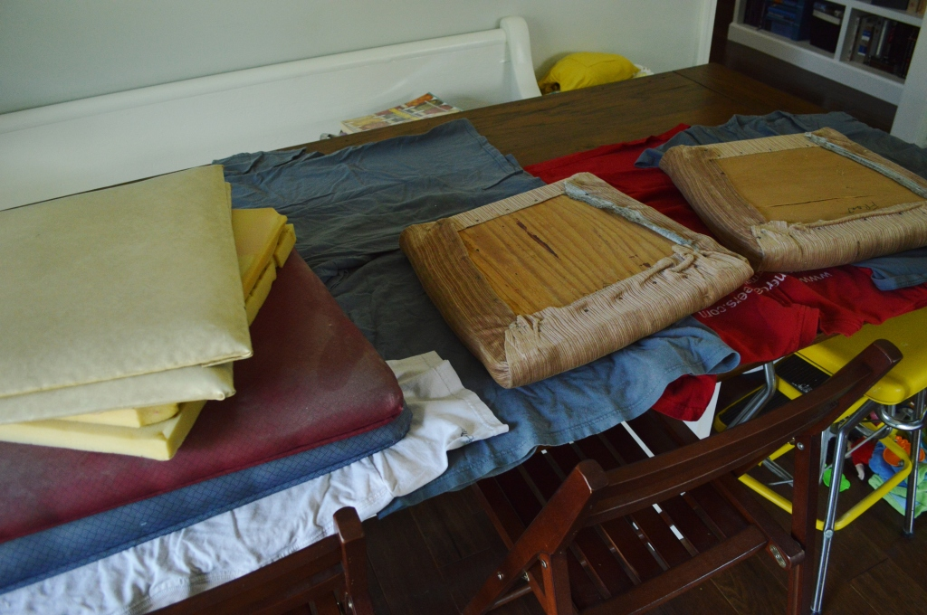 Reupholstering chair cushions