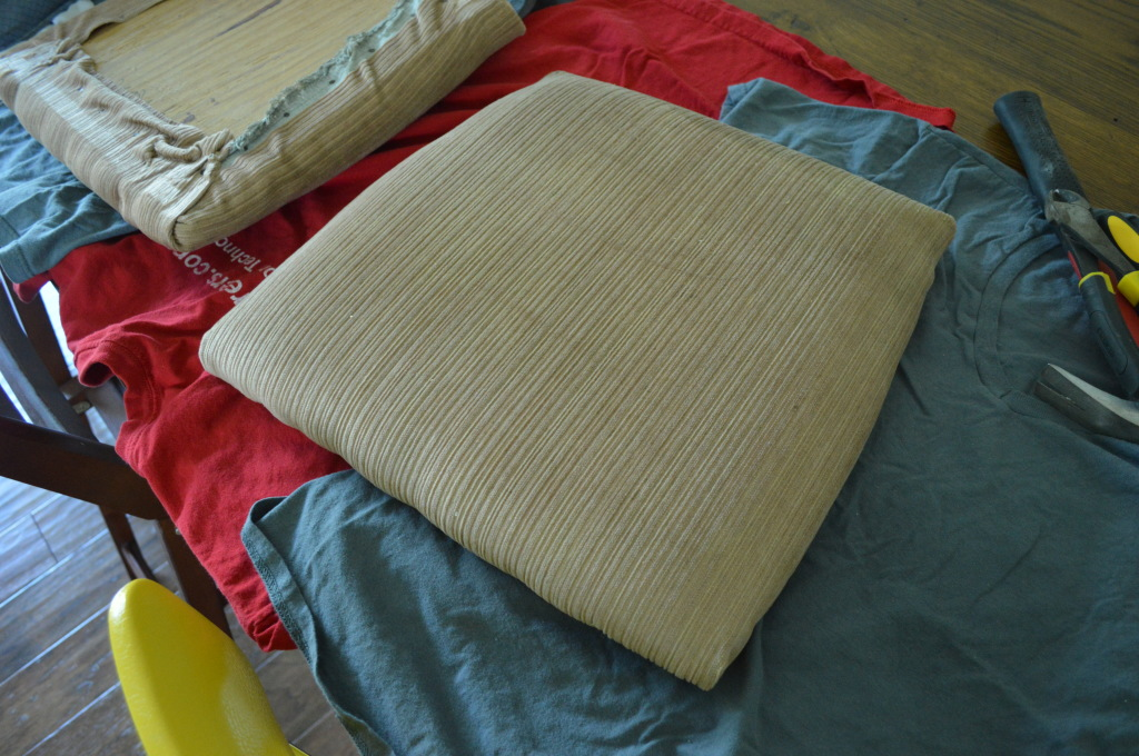 Reupholstering chair cushions 4