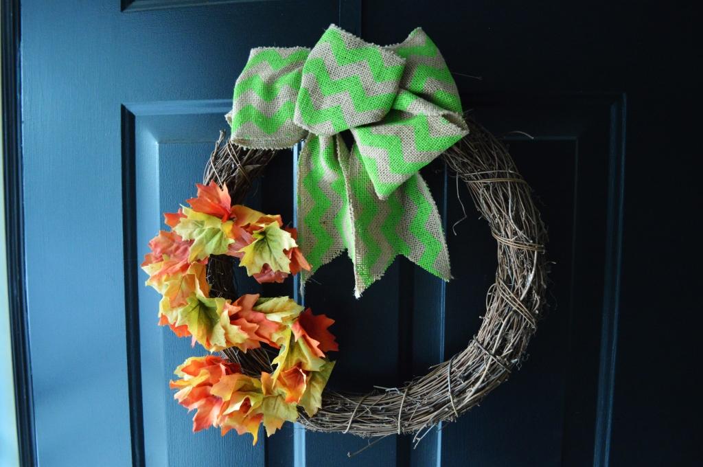 Simple Fall Wreath 2015