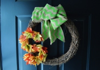 Simple Fall Wreath 2015