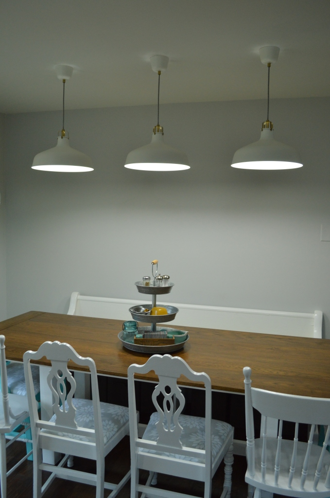 dining table pendant lights night
